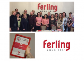 In 2019, we will explain again why it is excellent working at FERLING Ltd and why we are loveable!